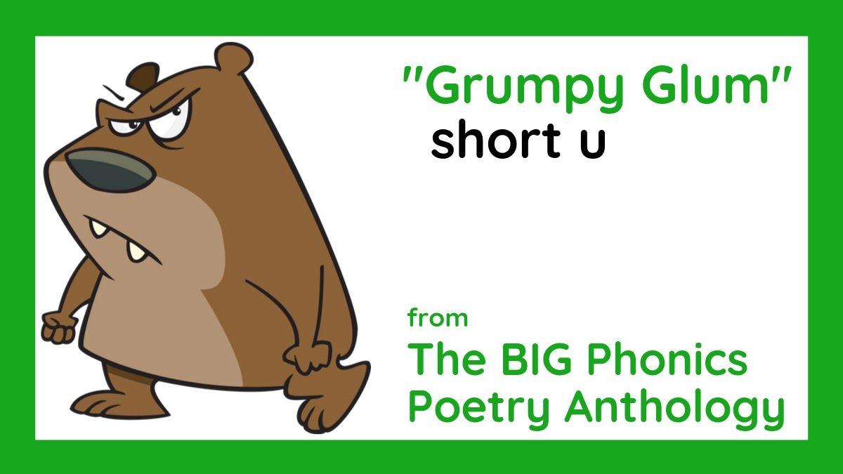"Image of grumpy bear from phonics poem, ""Grumpy Glum,"" by Lorrie L. Birchall"