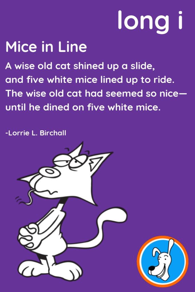 Image of long i phonics poem