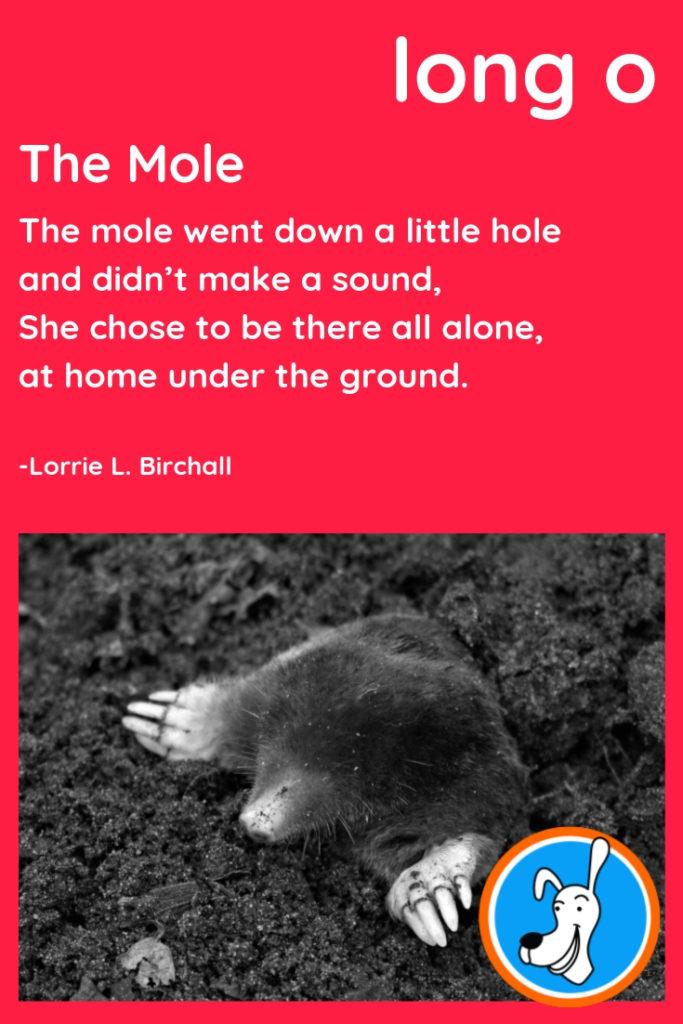 Image of long o phonics poem
