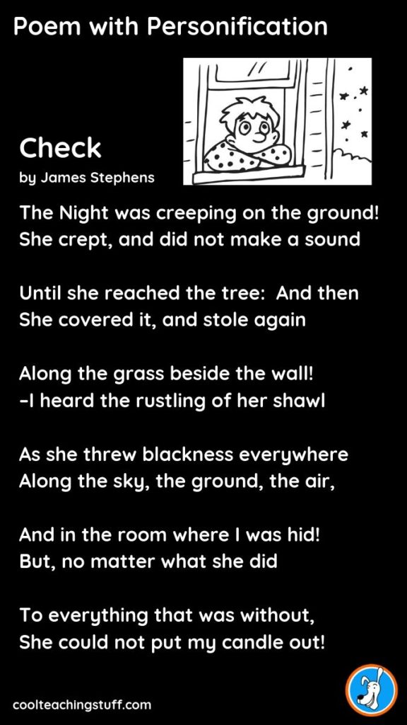 Image of poem with personification