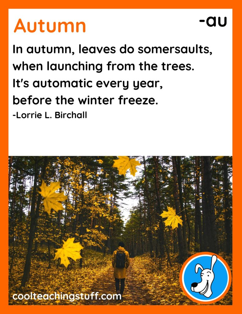 """Image of fall poem, """"Autumn,"""" by Lorrie L. Birchall"""