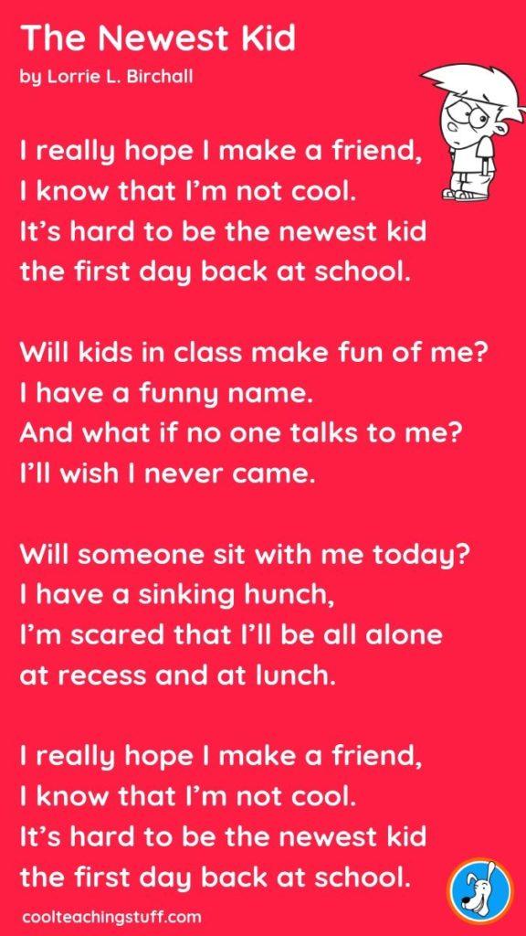 image The Newest Kid poem