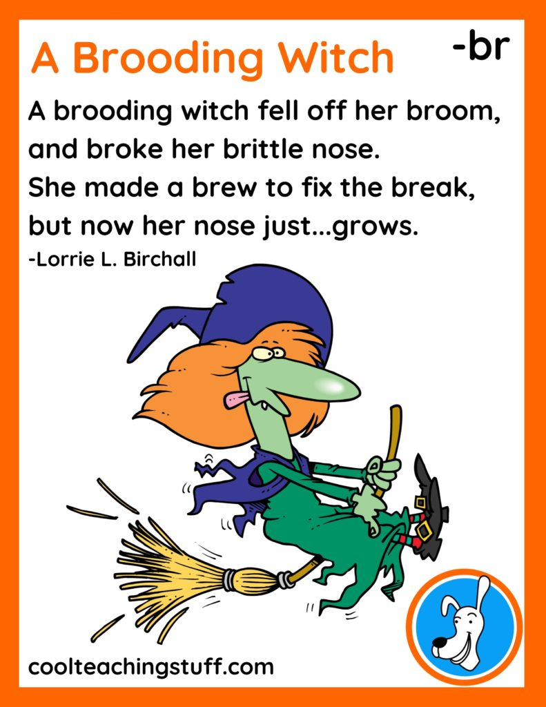 """Image of Halloween poem, """"A Brooding Witch,"""" by Lorrie L. Birchall"""