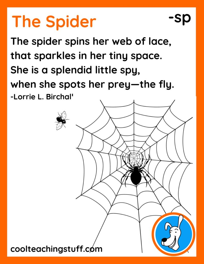 """Image of Halloween poem, """"The Spider,"""" by Lorrie L. Birchall"""