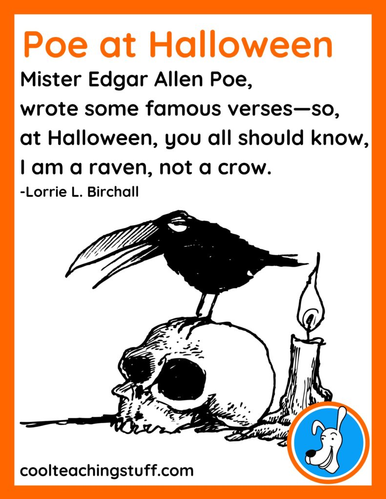 """Image of Halloween poem, """"Poe at Halloween,"""" by Lorrie L. Birchall"""