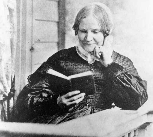 """Image of Lydia Maria Child, author of Thanksgiving poem, """"Over the River and Through the Wood,"""""""