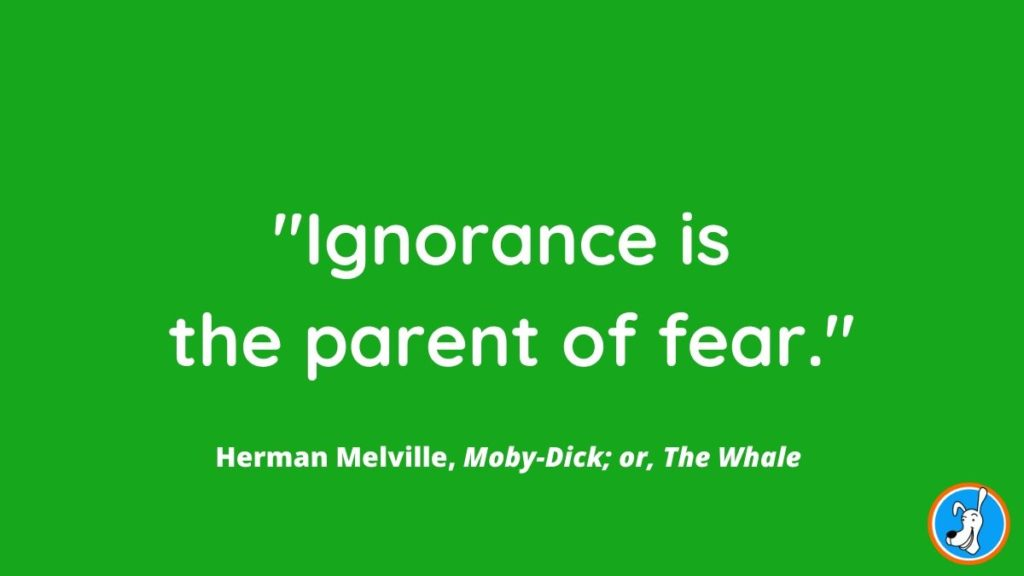 children's book quote from Moby Dick by Herman Melville
