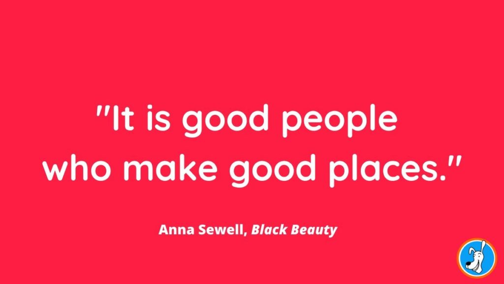 children's book quote from Black Beauty by Anna Sewell