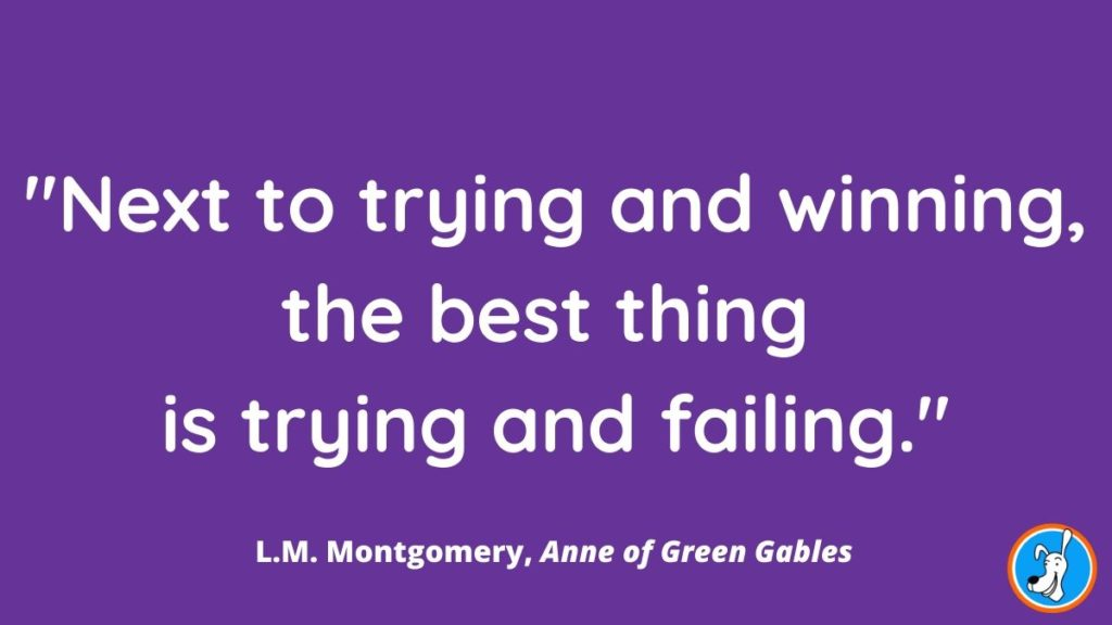 children's book quote from Anne of Green Gables by L.M. Montgovmery
