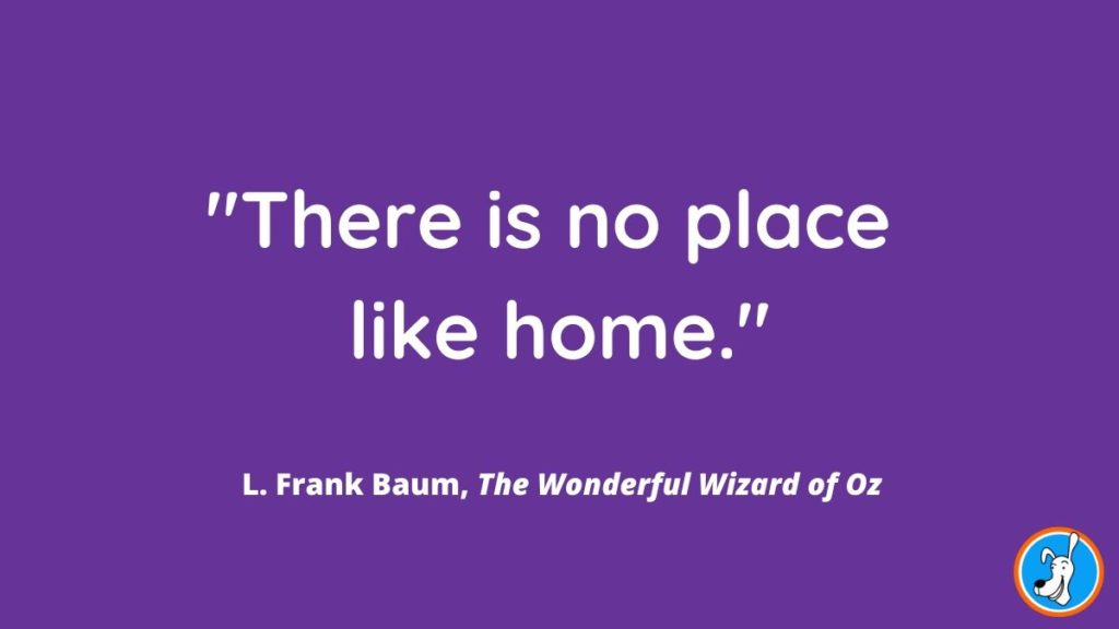 children's book quote from The Wonderful Wizard of Oz by L. Frank Baum
