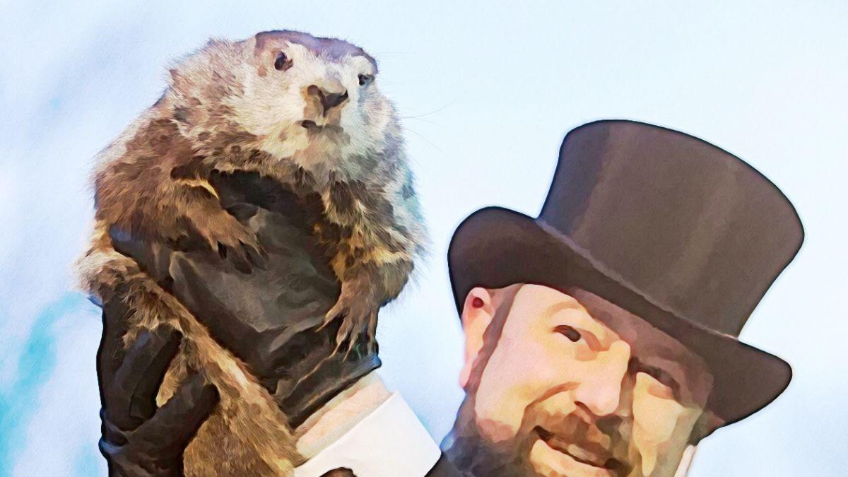 Image of Groundhog on Groundhog Day