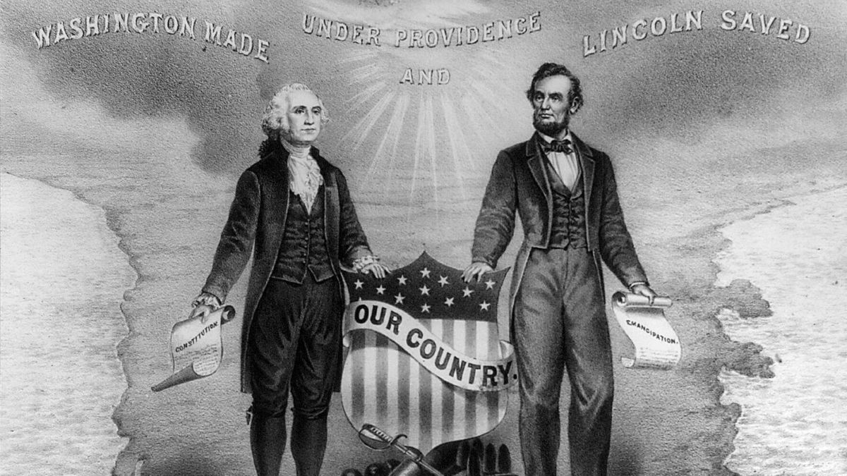 Image of President George Washington & President Abraham Lincoln for Presidents' Day