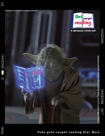 image of Yoda reading