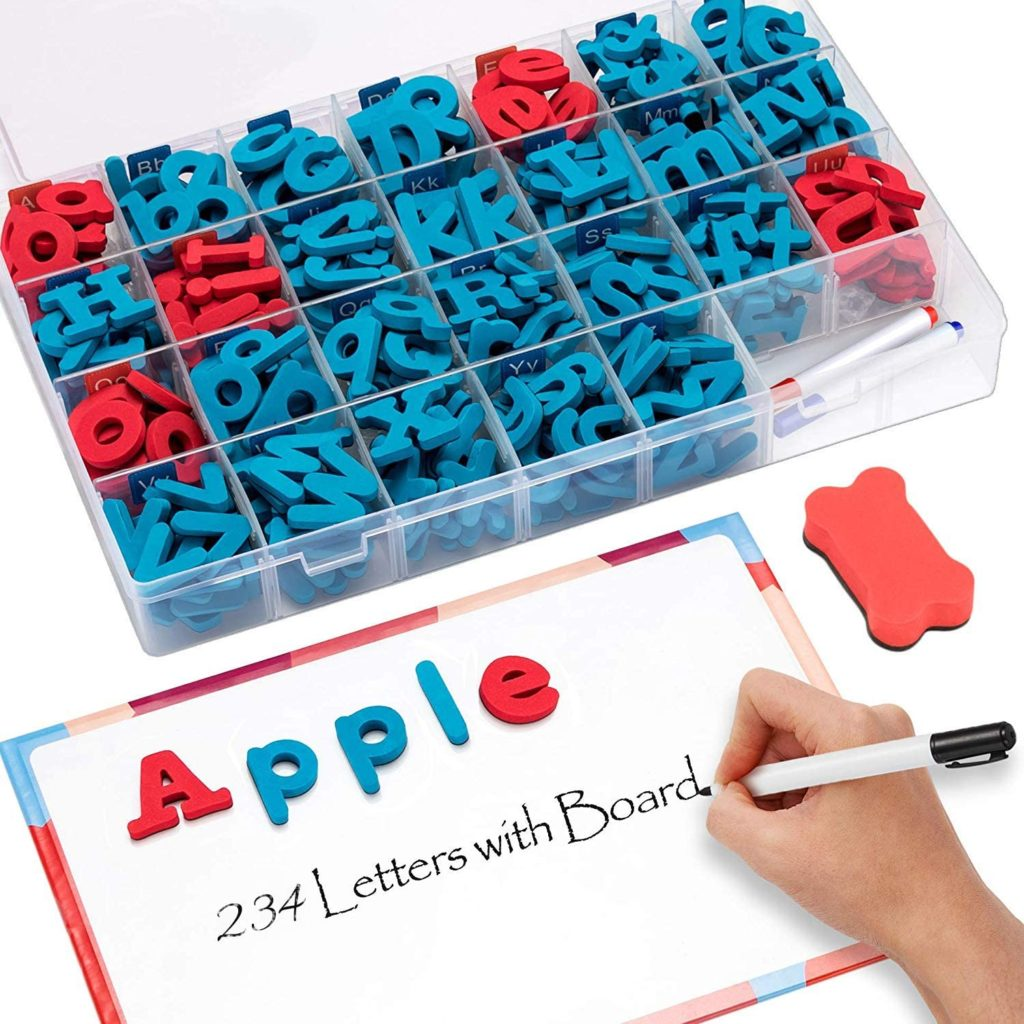 image using magnetic letters for decoding