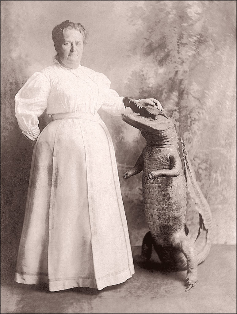 Image of Woman and Alligator for wacky writing picture prompt