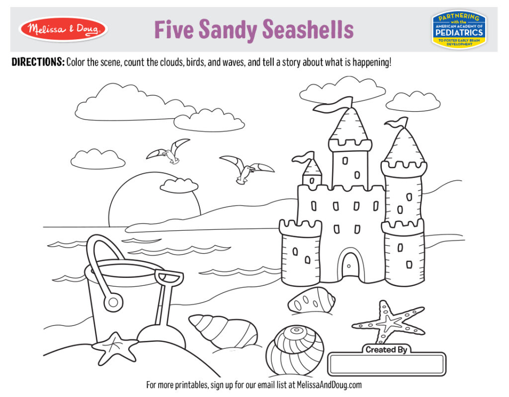 Summer coloring page by Melissa & Doug