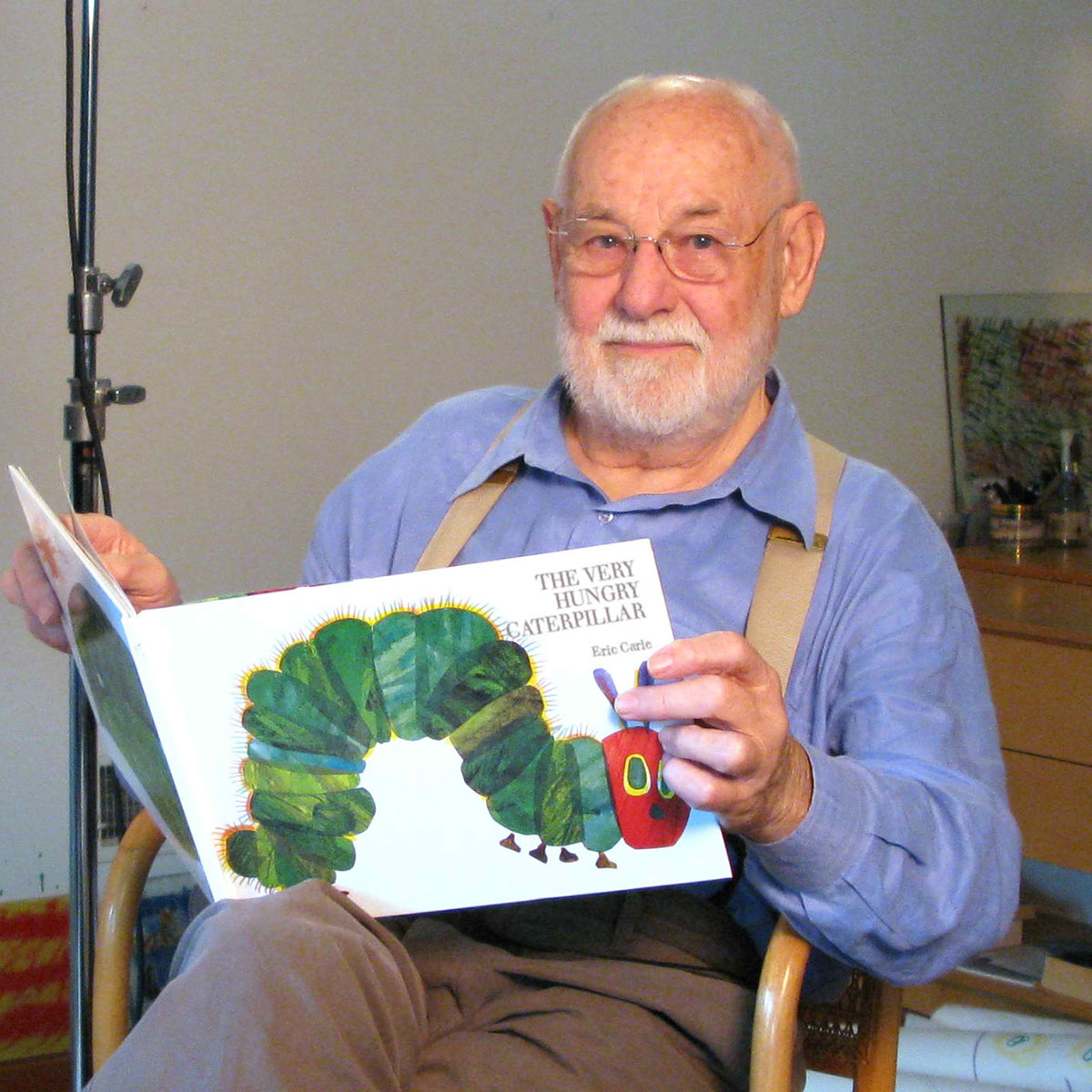 Eric Carle Reading The Very Hungry Caterpillar