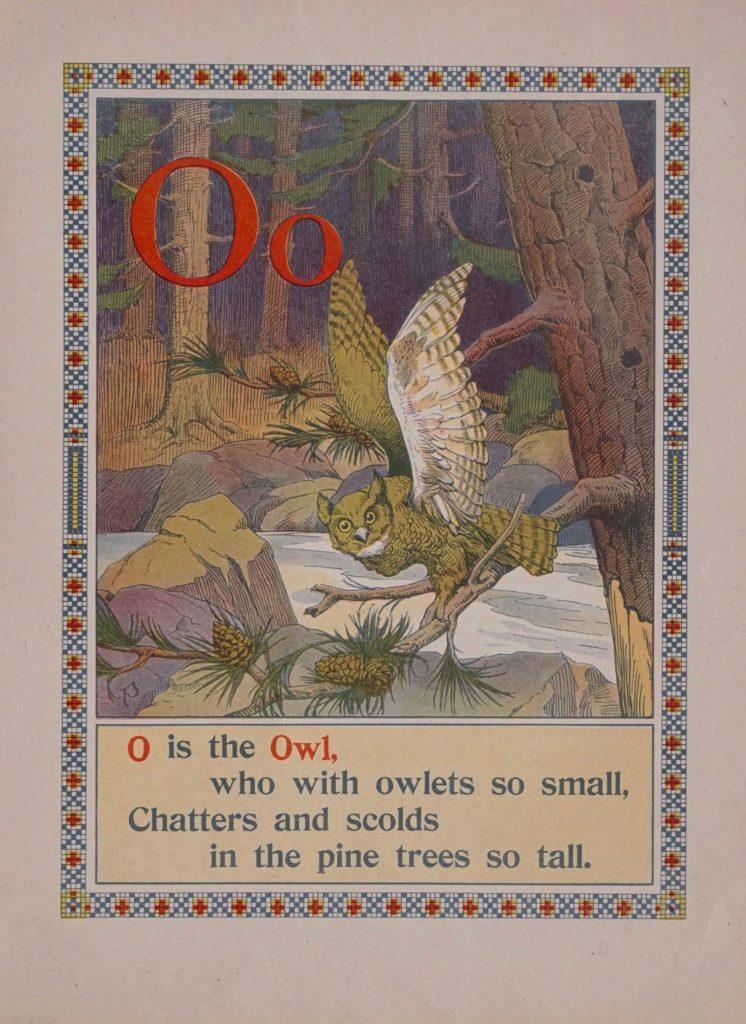 O is for owl phonics alphabet books