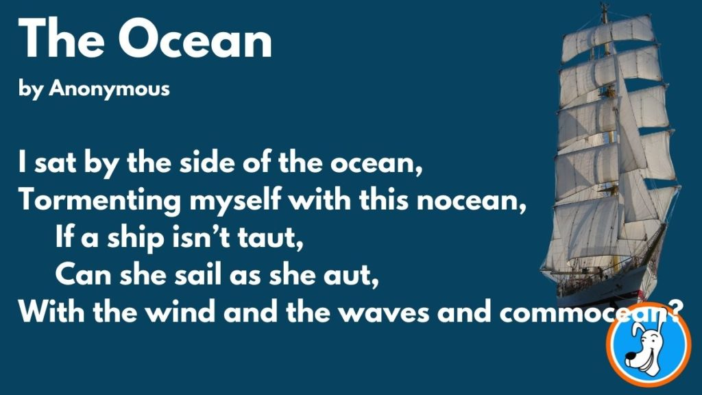 limerick example The Ocean