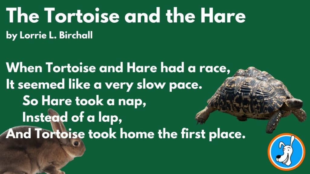 Limerick example The Tortoise and the Hare by Lorrie L. Birchall