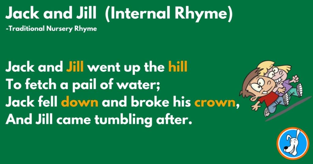 example of internal rhyme