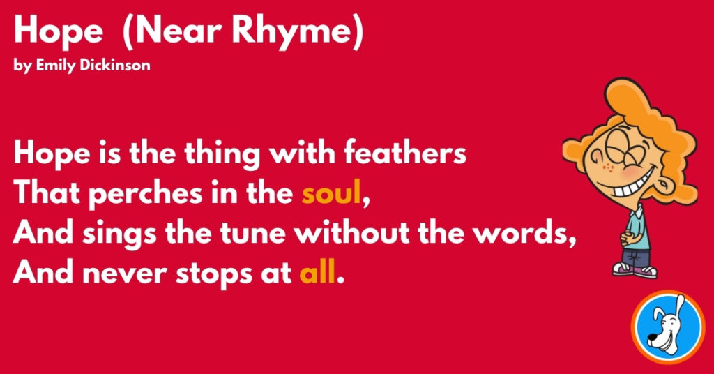 example of slant rhyme